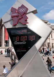 London Olympic countdown clock