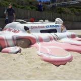 Melted Ice Cream Van Installation Art