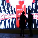 coca-cola invisible sampling machine