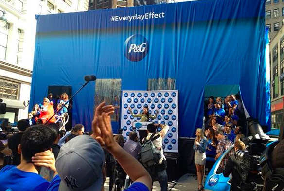 P&G uses social media to promote their sampling event